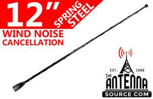 "12"" Black Spring Stainless AM/FM Antenna Mast Fits: 1992-1996 Chevrolet G20 Van"