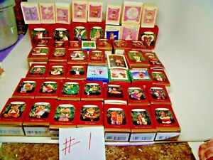 Lot of 50 Different Random Hallmark Keepsake Christmas Ornaments Tree Fillers #1