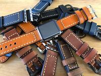 Pour Montre Apple Séries 5 4 3 2 1 42mm 44mm Remplacement Bracelet Cuir Bande