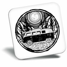 Awesome Fridge Magnet - Surf Bus Van Surfing Moon Night Sky Cool Gift #8030