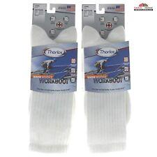 White Work Boot Crew Socks ~ New