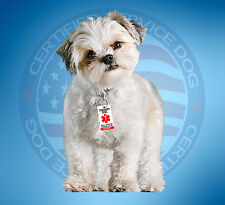 THERAPY DOG ID TAG KEY CHAIN / COLLAR TAG  FOR SERVICE ANIMAL ADA ESA CARD