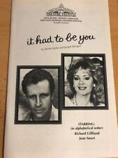 IT HAD TO BE YOU Lobero Theatre Program, March 22, 1987, Ticket Stub Inside