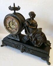 Antique Ansonia Figurine Mantel Clock