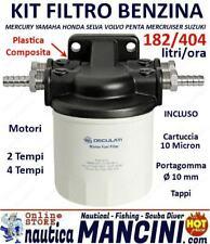 FILTRO SEPARATORE DECANTATORE ACQUA/CARBURANTE COMPLETO 145MM FUORIBORDO BENZINA
