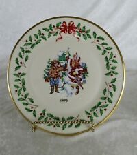 Lenox Annual Holiday Collector's Plate 1996 children mailing letters to Santa