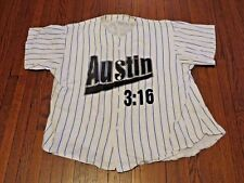 VTG WWF WWE Stone Cold Steve Austin 3:16 Pinstriped Baseball Jersey sz S