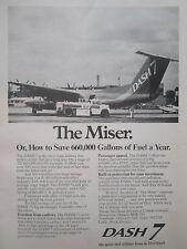 9/1976 PUB DE HAVILLAND AIRCRAFT CANADA DASH 7 AIRLINER FUEL SAVER ESSO AD