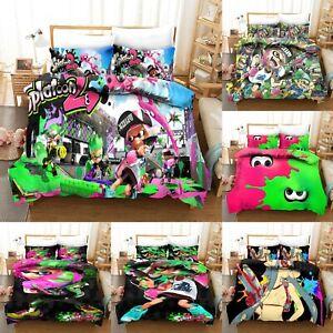 Splatoon 2 3PCS Bedding Set Duvet Cover Pillowcase Quilt Cover Twin Queen King