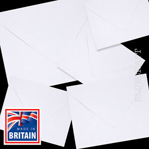 25 pack x White 130 x 130mm Square 5 inch Envelopes 100gsm