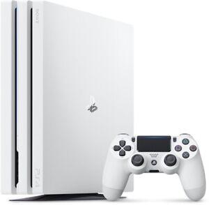 Sony PS4 Pro Konsole Weiß 1TB PAL wie Neu + Rechnung PlayStation 4 Pro Neuwertig