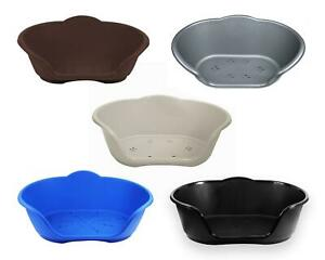 Plastic Pet Bed Heavy Duty Waterproof Cat Dog Basket Medium All Colours