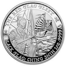 Tuvalu - 1 Dollar 2021 - Black Flag (3.) - The Red Flag Fleet - 1 Oz Silber ST