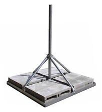 "ROHN FRM238SP5 Non Pen Penetrating Roof Mount WiFi DBS Antenna Mast 2.375"" x 60"""