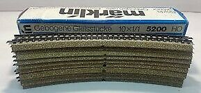 Marklin 5120 HO Scale Curved Track Sections (10) LN/Box