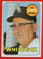 1969 Topps #527 Al Lopez Near Mint Chicago White Sox FREE SHIPPING