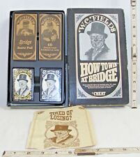 W.C. FIELDS HOW TO WIN AT BRIDGE CARD GAME BOXED 1960s NICE