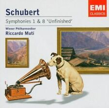 Schubert Symphonies 1 & 8 Unfinished Muti Emi Classics CD.New & Sealed