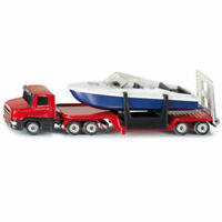 Diecast Siku 1/64 Alloy Truck LOW Loadr W Helicopter/Boat Vehicles Model Toys