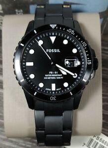 Fossil FS5659 Watch Three-Hand Black Stainless Steel Bracelet Men's FB-01 42MM