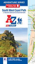 A-Z South West Coast Path North Devon Adventure Atlas (Paperback, OS 25000 map)