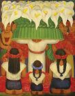 Diego Rivera Flower Festival Feast Of Santa Anita #2 Canvas Print 16 x 20  #7708