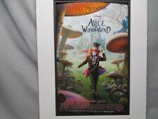 Disney Movie Poster Alice in Wonderland 2010  Walt Disney Studios Color #3