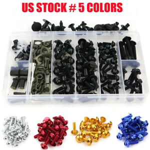 Multi-color CNC Motorcycle Complete Fairing Bolts Kit Bodywork Screws Nuts Black