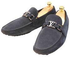 Louis Vuitton Mens Suede Hokenheim Flats Blue Loafers Shoes UK 7.5 US 8.5 EU41.5