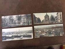 Lot 4 Antique 1800's Panorama Postcards France Austerlitz Butte Montmarte etc.