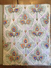 Rare CARNET 21 DESSINS pleine page motif art nouveau 1920 aquarelle et gouache