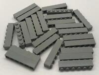 vintage classic Castle Space Town 6112 10 Old Light Gray Lego 1x12 Bricks Lot
