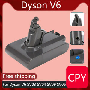 21.6V Battery For Dyson V6 SV03 SV04 SV09 SV06 DC58 DC59 DC61 DC62 Animal CPY