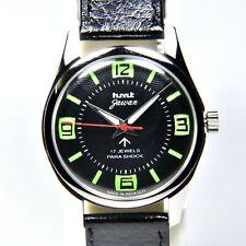 HMT Jawan Black Numeric 17 Jewels Para Shock Hand Winding Men's Watch