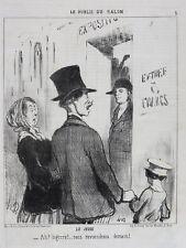 Honore Daumier France 1808 -1879 Lithograph Le Public du Salon No 5 Le Jeudi