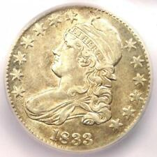 1833 Capped Bust Half Dollar 50C - Certified ICG AU53 - Rare Coin - $429 Value!