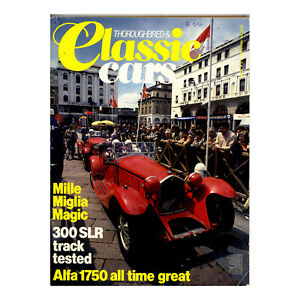 Thoroughbred & Classic Cars August 1984 - Mercedes-Benz 300SLR - Free Post