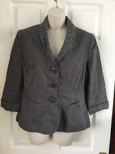 Per Una, Marks and Spencer Linen khaki summer jacket, size 14