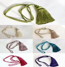 Luxury, Curtain Tie Back - Rope and Single Tassel Tiebacks Holdbacks