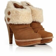 UGG ® Australie Georgette Chestnut Bottines en Daim UK 4.5 EUR 37 USA 6 RRP £ 190