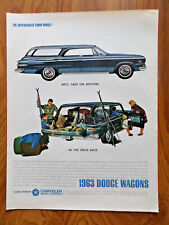 1963 Dodge 880 Wagons Ad - The Space Race