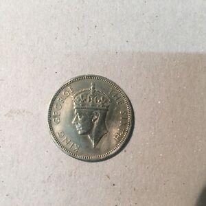 HONG KONG 50  CENTS 1951  KM # 27.1  VF