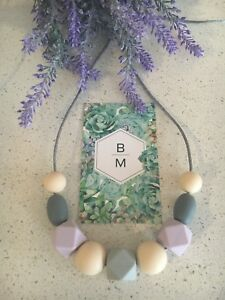 Silicone Sensory (was teething) Necklace for Mum Jewellery Beads Aus Gift Lilac