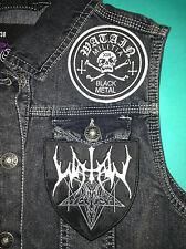 Watain Black Metal Militia Girls Denim Cut-Off Waistcoat Vest Jacket Wild Hunt