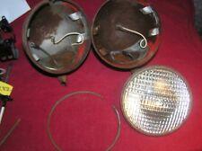 Vintage Pair Hall H11,12 Volt, Sealed Beam Tractor Driving Lights Rat Rod