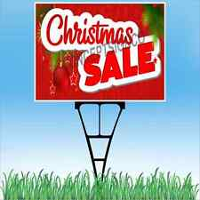 """18""""x24"""" CHRISTMAS SALE Outdoor Yard Sign & Stake Lawn Holiday Black Friday Sales"""