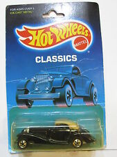 HOT WHEELS 1988 CLASSICS MERCEDES 540K BLACK MIB
