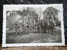 Photo argentique guerre 39 45 soldat Allemand wehrmacht WWII 2 Peloton en armes