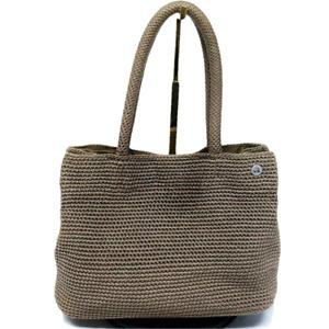 The Sak Crochet 2 Strap Shoulder Bag Handbag Tote Magnet Hobo Knit Brown