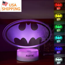 Justice League Batman 3D Acrylic LED Night Light Table Desk Lamp Creative Gift